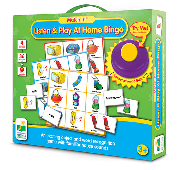 The Learning Journey: Match It! Listen & Play At Home Bingo