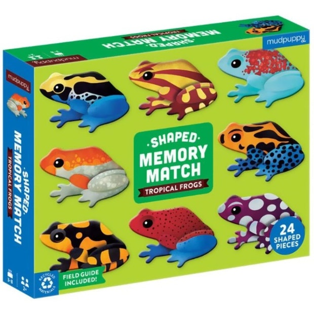 Mudpuppy: Tropical Frogs Shaped Memory Match