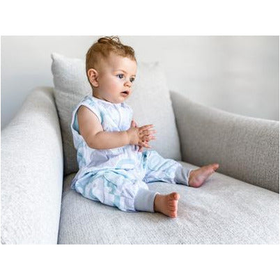 Baby Studio: Coolies No Arms Cotton 1.0 TOG Peppermint Clouds Sleeping Bag