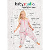 Baby Studio: Coolies No Arms Cotton 1.0 TOG Pink Clouds Sleeping Bag (4809084600391)