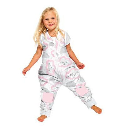 Baby Studio: Coolies No Arms Cotton 1.0 TOG Pink Clouds Sleeping Bag