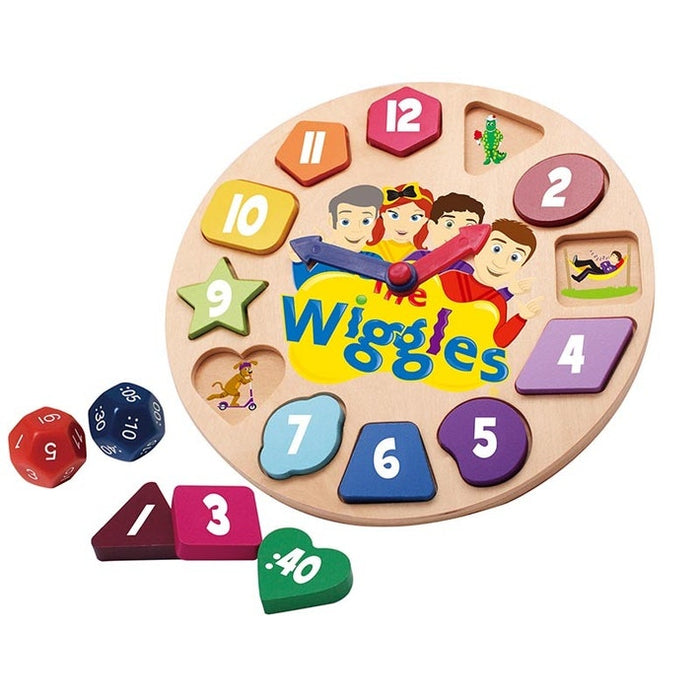 The Wiggles: Wooden Clock Game