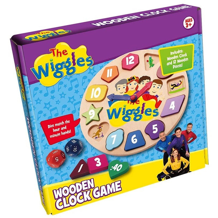 The Wiggles: Wooden Clock Game (4805900894279)
