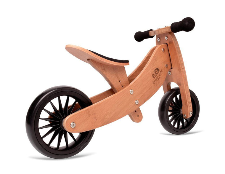 Kinderfeets: 2-in-1 Tiny Tot PLUS Tricycle & Balance Bike - Bamboo