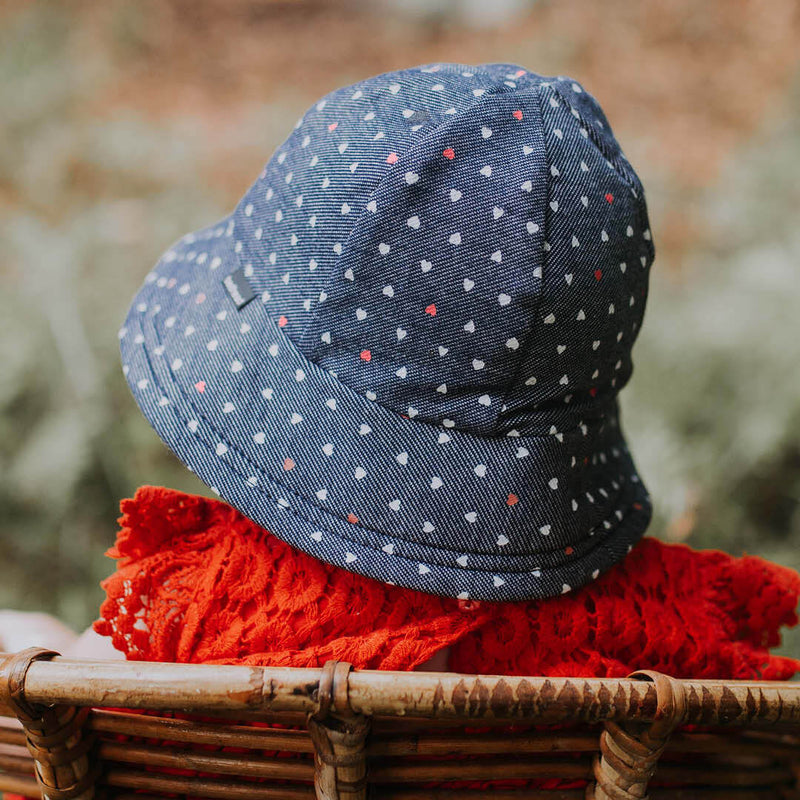 Bedhead Hats: Girls Toddler Bucket Hat - Hearts