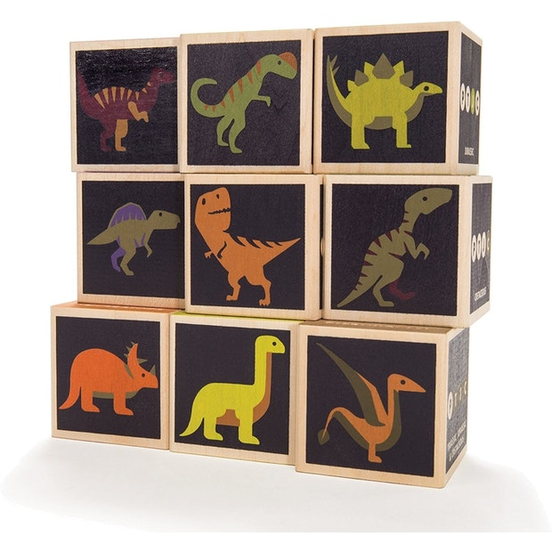 Uncle Goose: Dinosaur Building Blocks - KidsnToys.co.nz