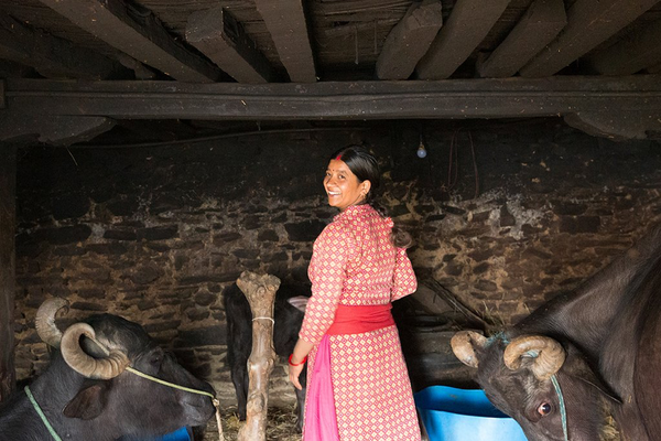 January greetings from Lalitpur! 30-year-old Srijana gets strength from other women