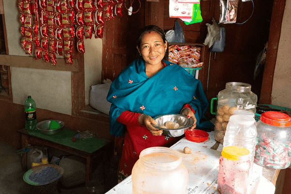 August greetings from Lalitpur! The shop brings a steady livelihood to 31-year-old Bimala.