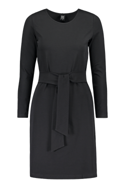 Belted Dress Ls, Black