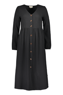 Button Dress, Black