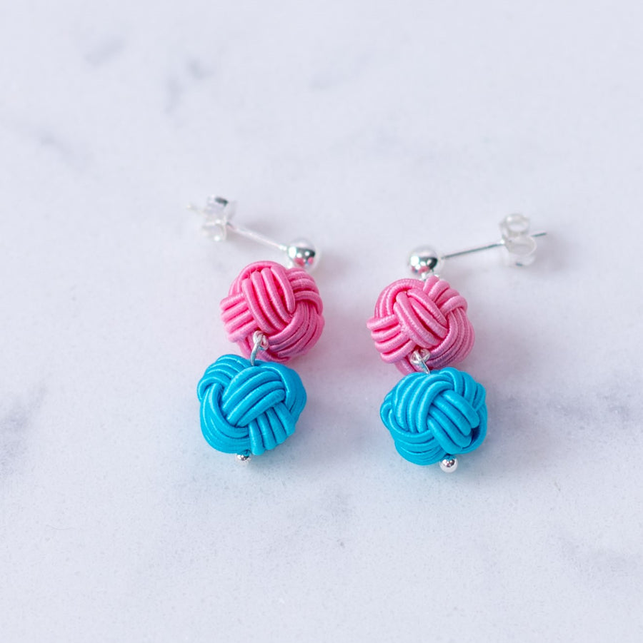 Pon Pon Earrings - Cotton Candy