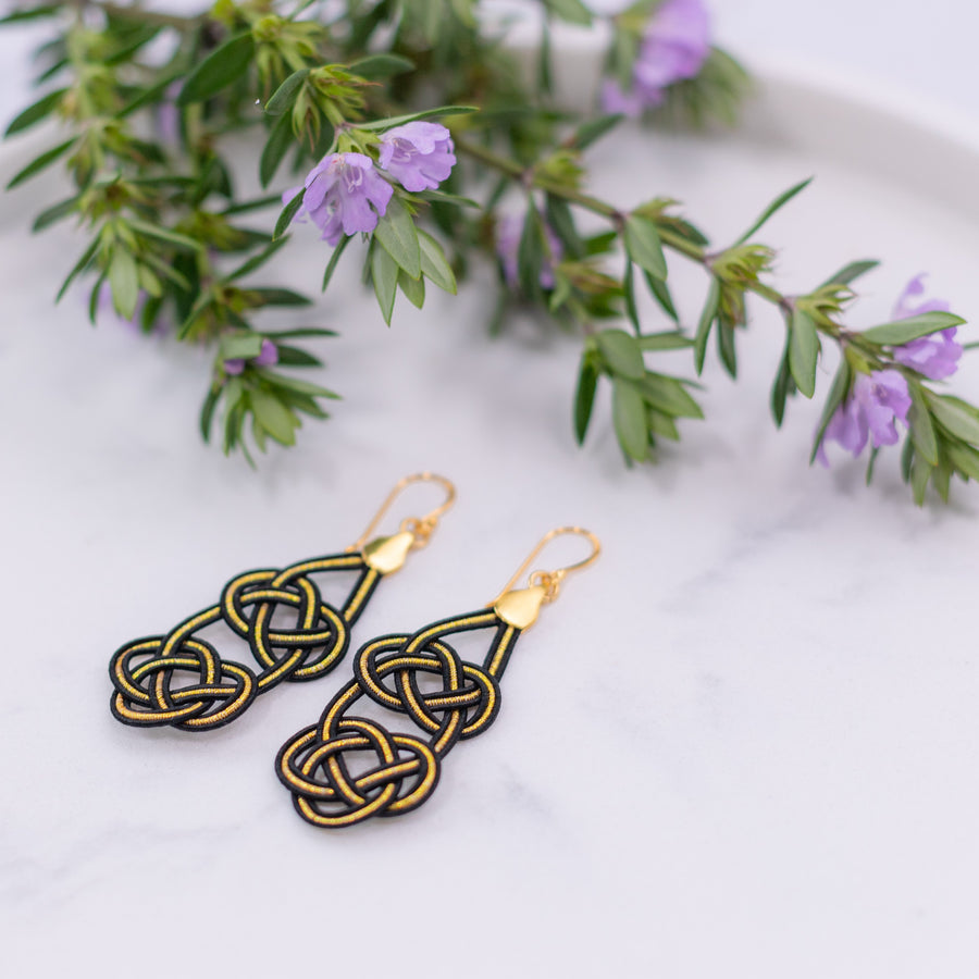 Geiko Earrings - Sunrise White