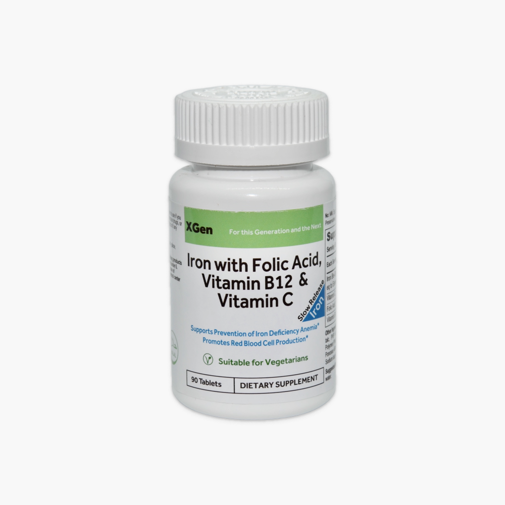 Iron with Folic Acid, Vitamin C & B12