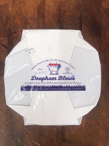 Deopham Blewe Cheese made at Willow Farm Dairy, Wymondham