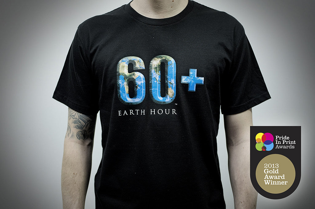Earth Hour, CMYK Screen Print