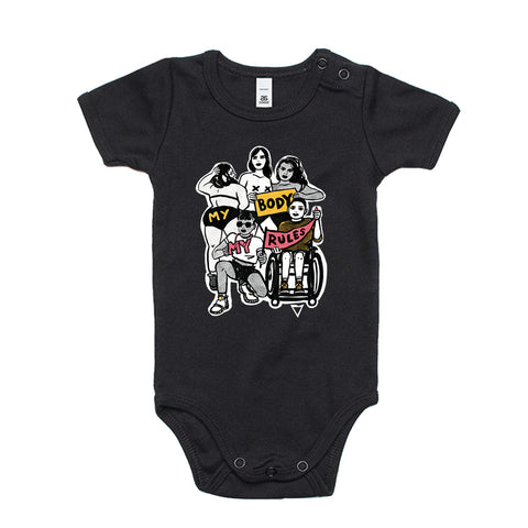 My Body My Rules - Infant Onesies