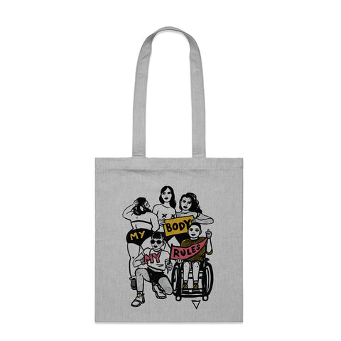 My Body My Rules - Parcel Tote Bag
