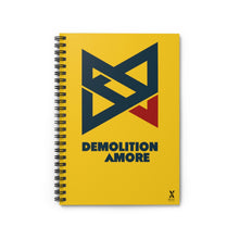 Load image into Gallery viewer, Demolition Amore Spiral Notebook - Ruled Line