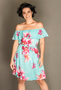 Vestido ERA Orquídea Women's Off-Shoulder Dress