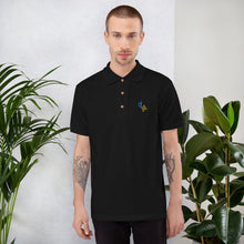 Load image into Gallery viewer, Douglas Josue Embroidered Polo Shirt Black
