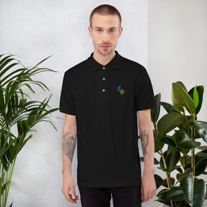 Douglas Josue Embroidered Polo Shirt Black
