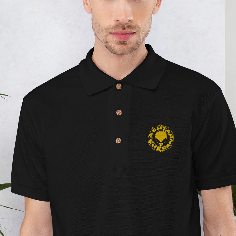 Polo bordado Ashtar Sheran Gold
