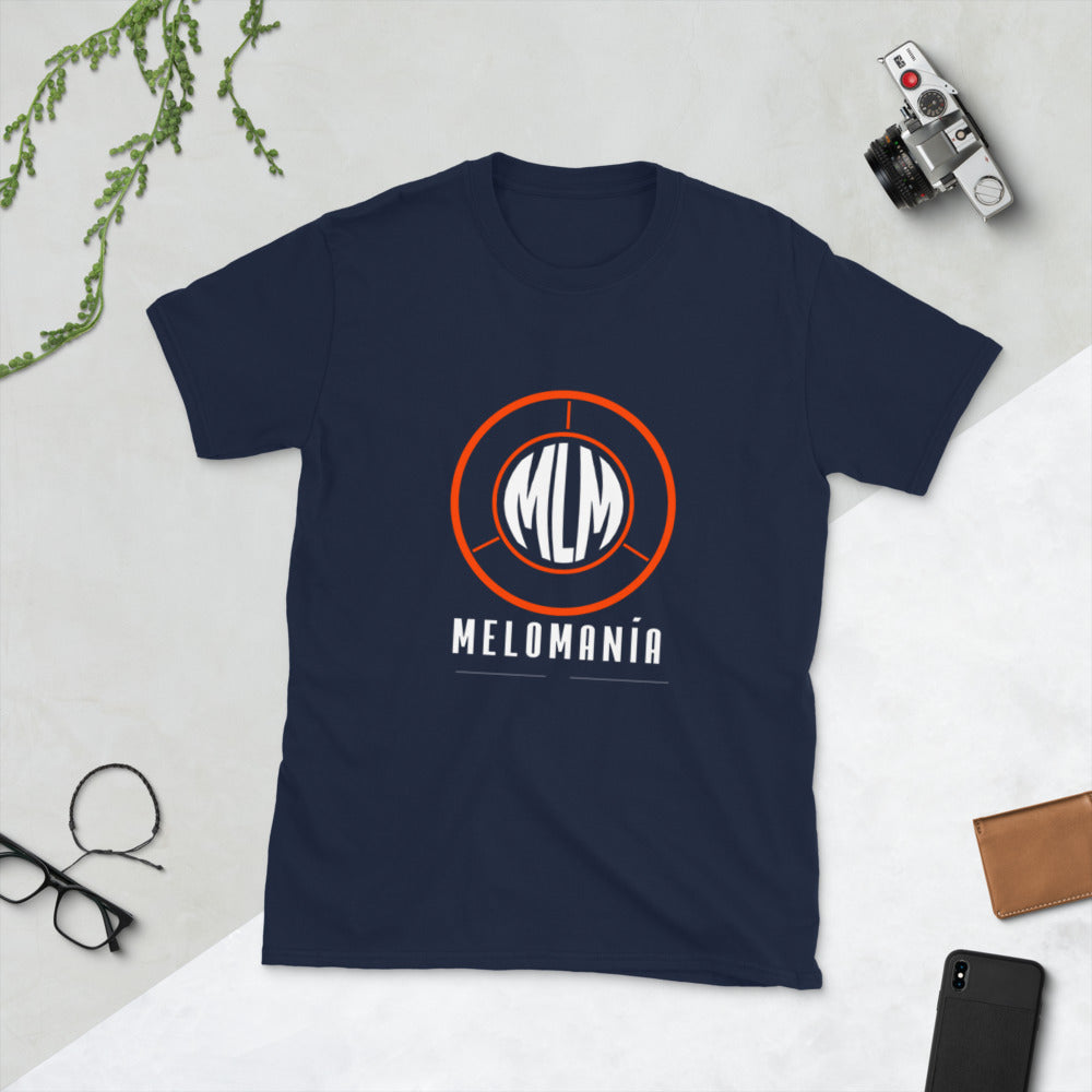 Melomania Short-Sleeve Unisex T-Shirt Navy