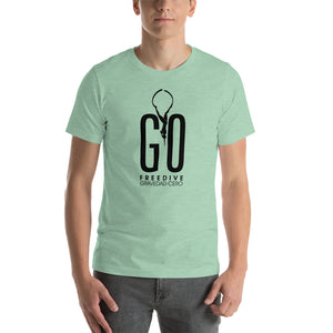 Freedive G0 Heather Prism Mint Short-Sleeve Unisex T-Shirt