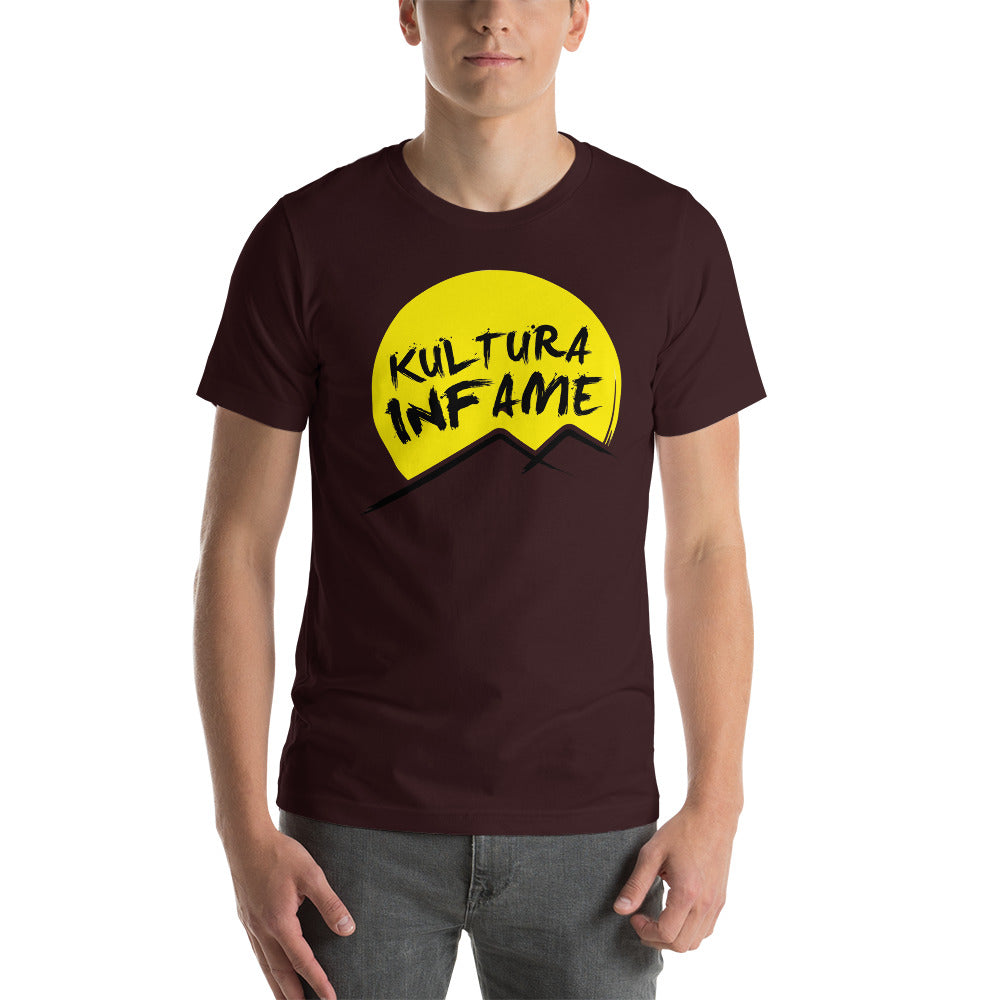 Kultura Infame Oxblood Black Short-Sleeve Unisex T-Shirt