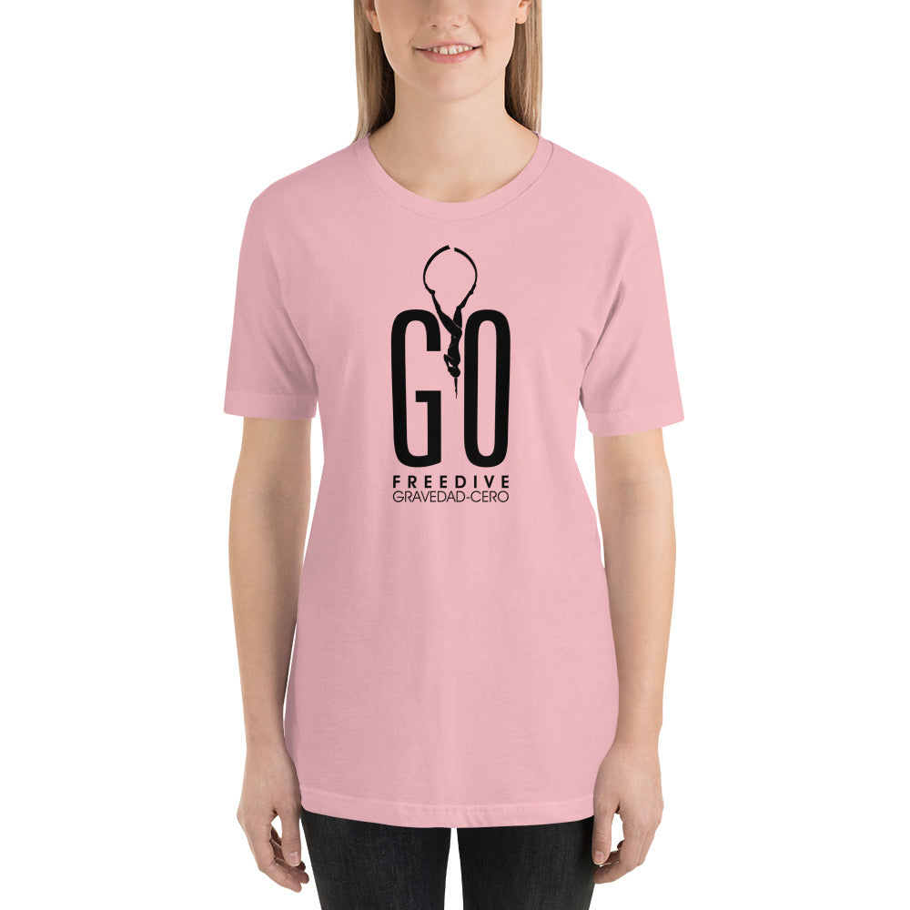 Freedive G0 Pink Short-Sleeve Unisex T-Shirt