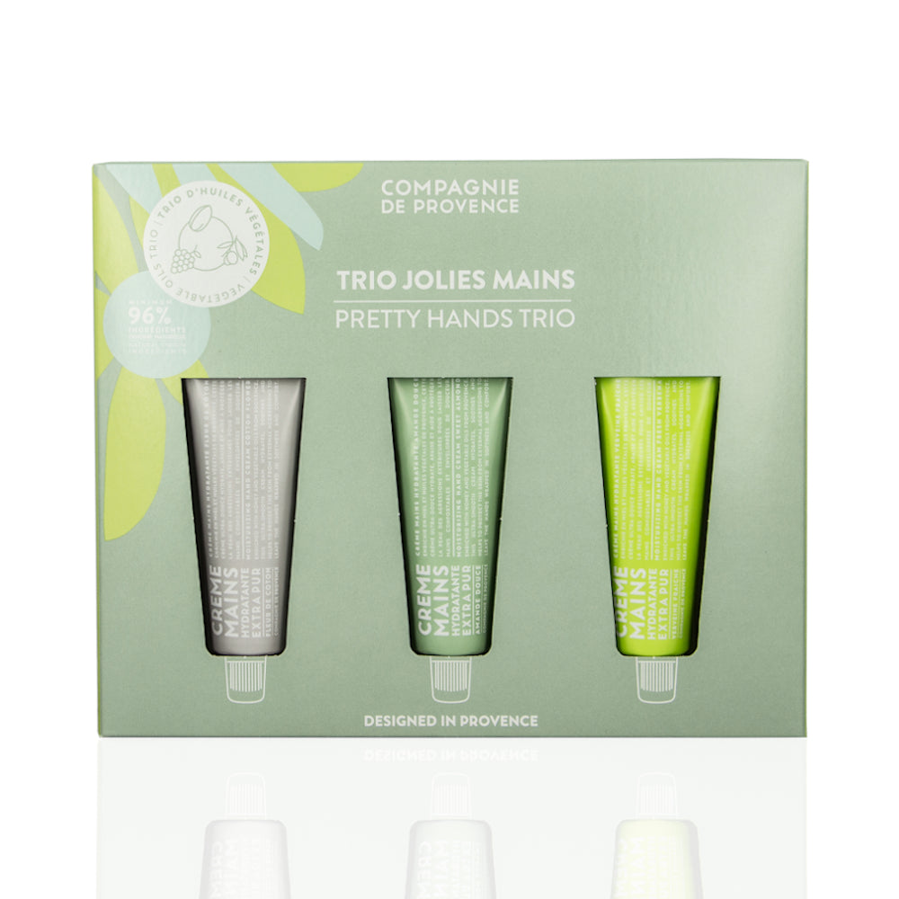Pretty Hands Trio Set Extra Pur Cotton Almond Verbena