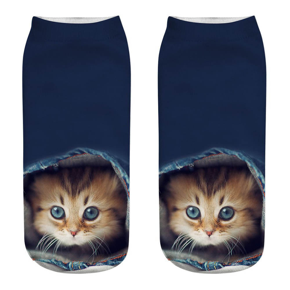 Holiday Lively Cat 3D Print Daily Sweety Socks