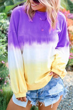 Gradient Long Sleeve T Shirt