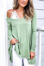 Round Neck Long Sleeves T Shirt