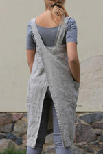 Casual Solid Pockets Overall Dress