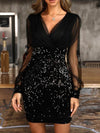 See-through Look Sequins Bodycon Party Dress