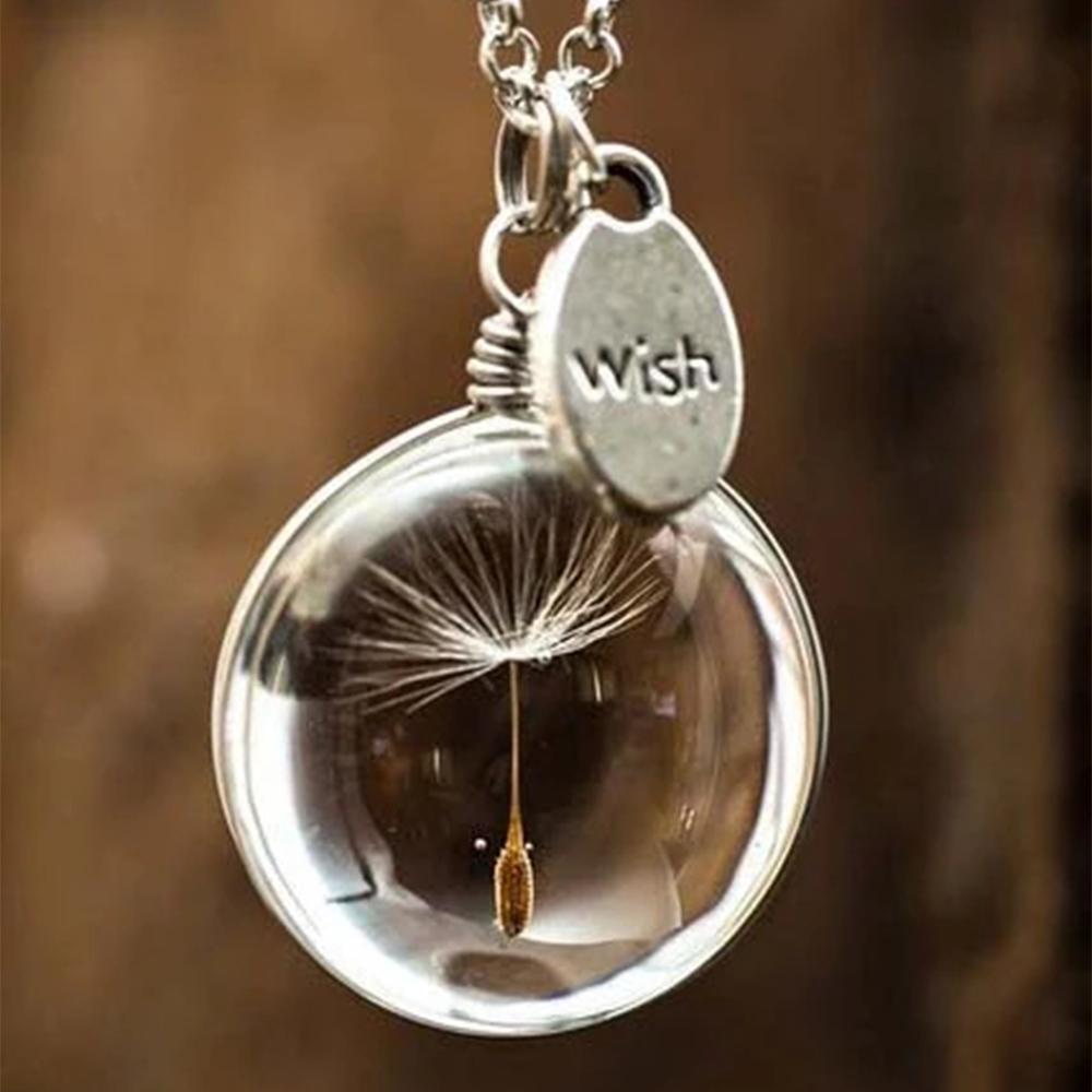 Dandelion Time Gem Wish Pearl Decoration Holiday Daily Necklace
