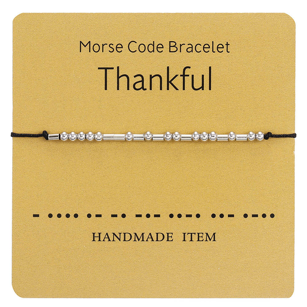 Morse Code Digital Key Simple Holiday Bracelet