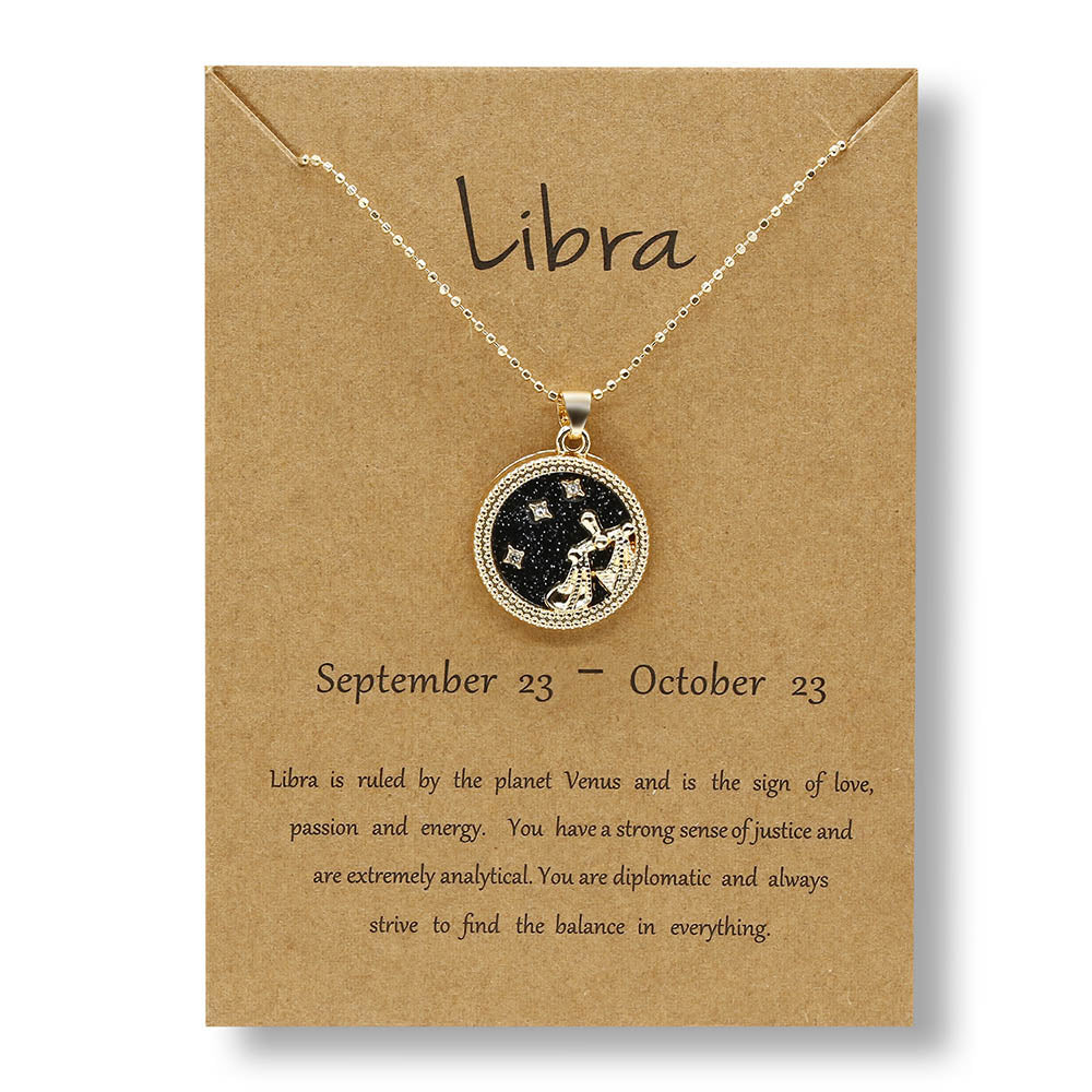Day And Night Twelve Constellations Daily Women Necklaces