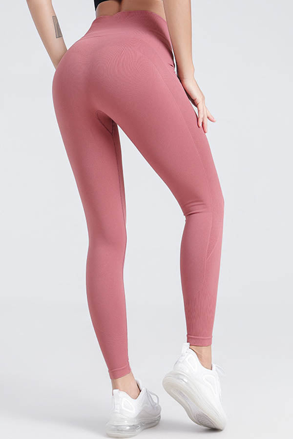 Curve Embossed Sports Fitness High Waist Butt Lifting Yoga Leggings