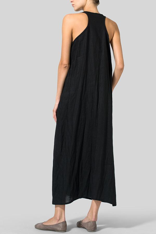 Casual Solid Sleeveless Maxi Dress