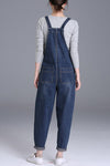 Casual Denim Loose Cropped Jeans Harem Jumpsuit
