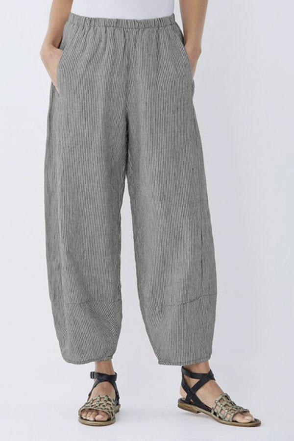 Casual Linen Pockets Shift Pants