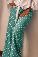 Casual Polka Dot Wide Leg Pants