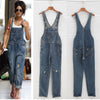 Ripped Pocket Denim Jumpsuits