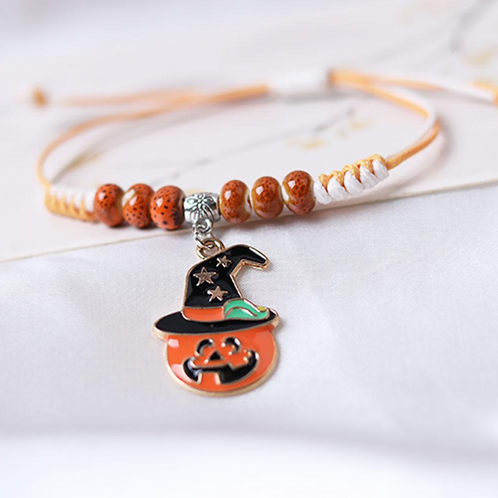 Trick Or Treat Halloween Pumpkin Porcelain Beads Party Hand Catenary