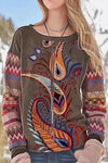 Ethnic Cashew With Geometric Print Daily Shift T-shirt