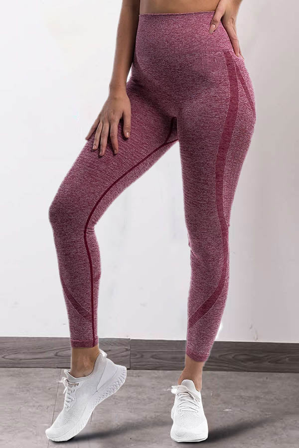 Curve Embossed Hollow Out High Waist Sports Fitness Yoga Leggings