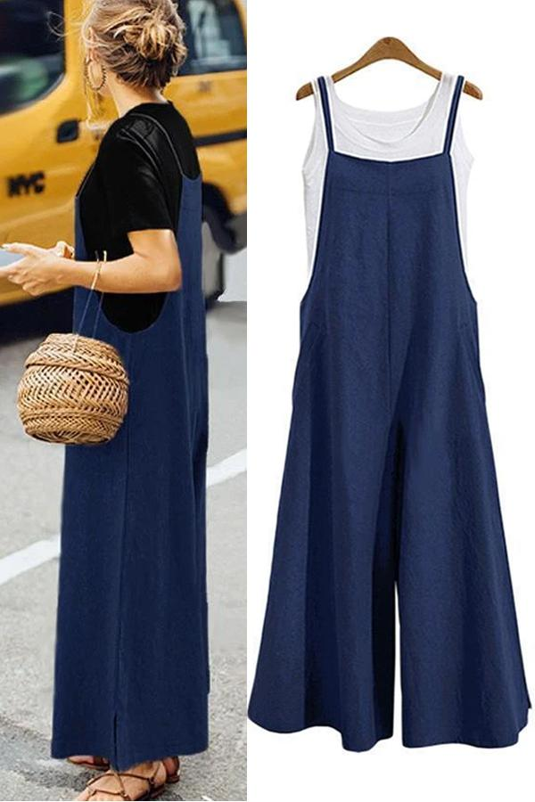Casual Solid Loose Jumpsuit