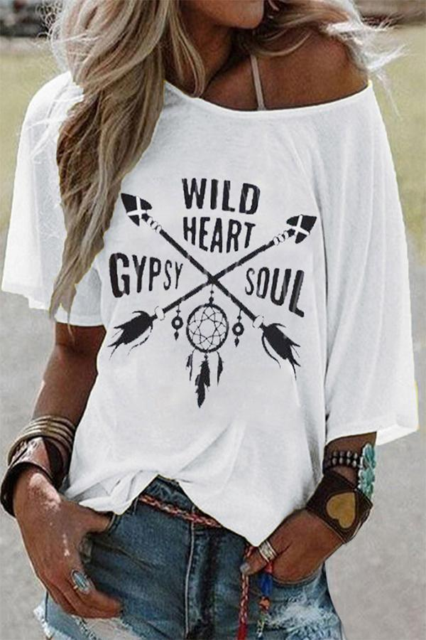 Graphic Print Casual Short Sleeves T-shirt